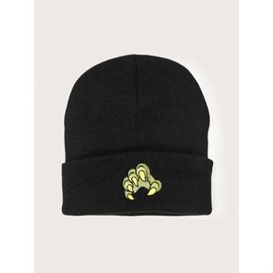 Green Monster Claw Embroidered Beanie 💚